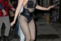 Ensemble résille - Lady Gaga sexy