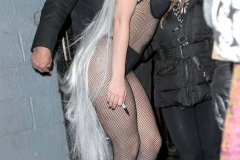Lady Gaga sexy dans le froid hivernal de New-York