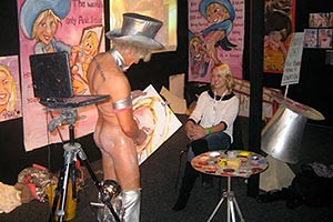 Pricasso peint un portrait